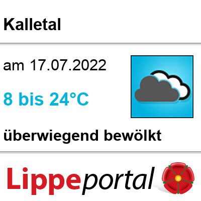 Das Wetter morgen in Kalletal